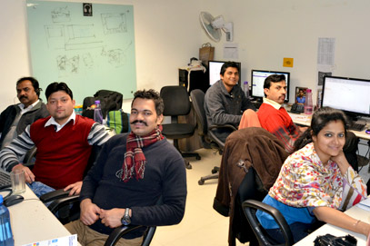 Jagran Solutions team at work